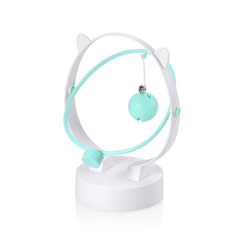 Green Kinetic Swing Cat Toy With Dispenser and Pompon