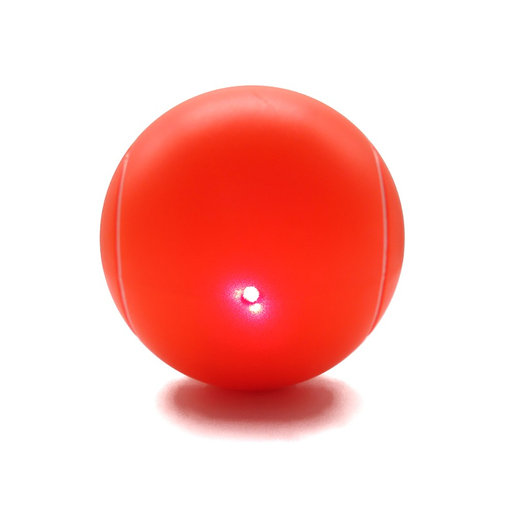 Orange Tennis Ball Cat Toy With Laser Light